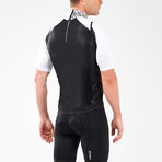Wind Defense Cycle Gilet // Black + White (2XL)