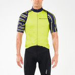 Wind Defense Cycle Gilet // Blue + Neon Yellow (S)