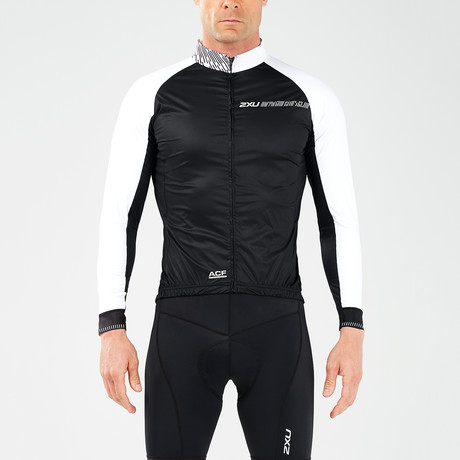 Wind Defense Cycle Jacket // Black + White (XS)