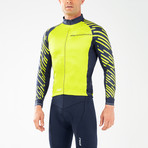 Wind Defense Cycle Jacket // Blue + Neon Yellow (XL)