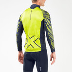 Wind Defense Cycle Jacket // Blue + Neon Yellow (XS)