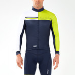 Wind Defense Cycle Jacket // Navy + White + Neon Yellow (2XL)