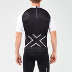 Elite Cycle Jersey // Black + White (2XL)
