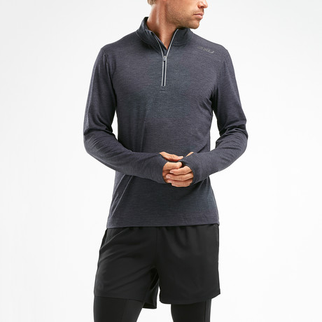 HEAT Quarter-Zip Top // Gray (XS)