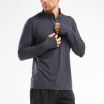 HEAT Quarter-Zip Top // Gray (L)