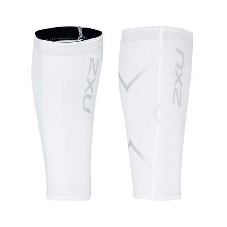 Compression Calf Guards // White (XS)