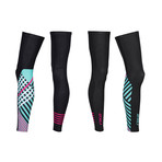 Thermal Cycle Leg Warmers // Black + Pink + Blue (M)