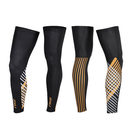 Thermal Cycle Leg Warmers // Black + Orange (XS)