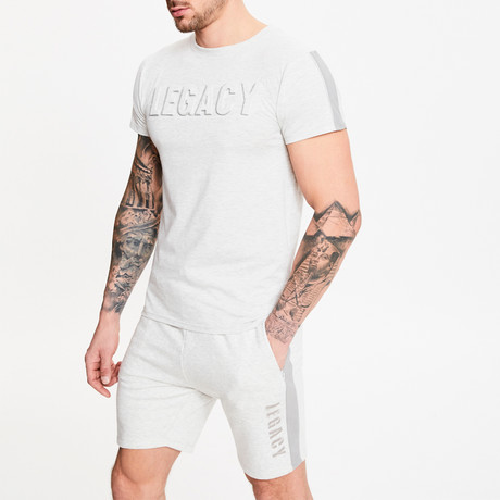 Embossed T-Shirt // Snow Marl (XS)