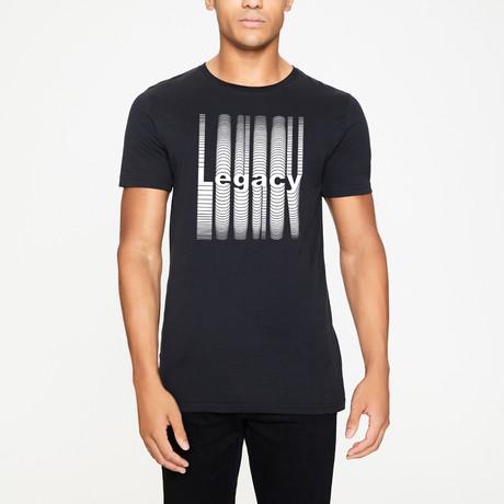 Printed T-Shirt // Black (XS)
