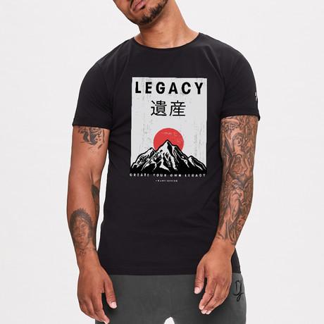 Red Sun Legacy Printed T-Shirt // Black (XS)
