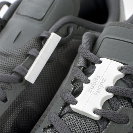 Zubits Magnetic Shoe Closures // White (Size 1)
