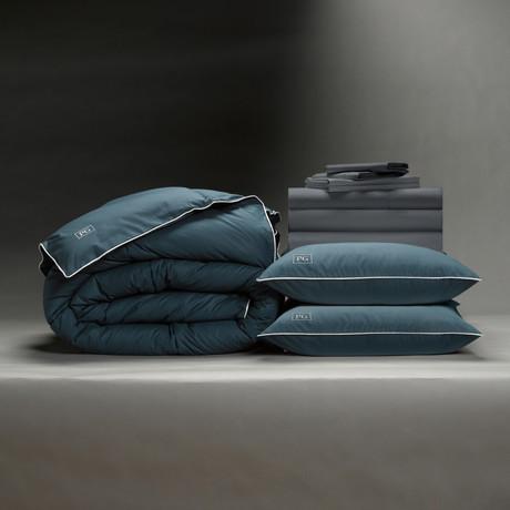 Classic Cool + Crisp Perfect Bedding Bundle // Down Alt Gel Fiber // Charcoal (Full)