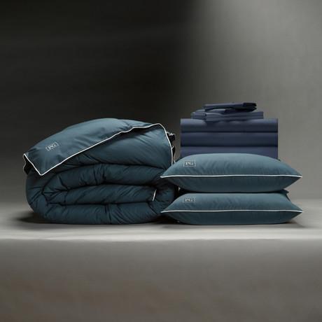 Classic Cool + Crisp Perfect Bedding Bundle // Down Alt Gel Fiber // Dark Navy (Full)