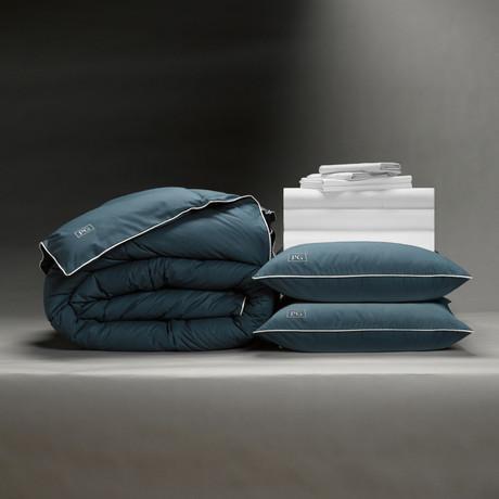 Classic Cool + Crisp Perfect Bedding Bundle // Down Alt Gel Fiber // White (Full)