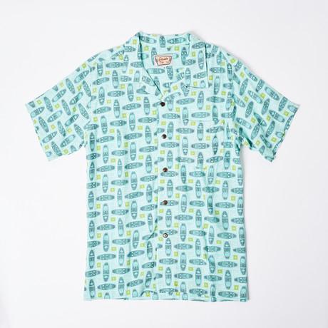 Makai Retro Hawaiian Shirt // Mint (S)