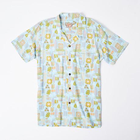 Keanu Retro Hawaiian Shirt // Blue Atomic Retro (S)