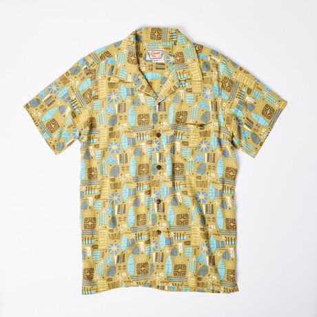 Cullen Retro Hawaiian Shirt // Moss (S)