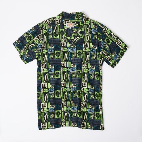Kai Retro Hawaiian Shirt // Green (S)