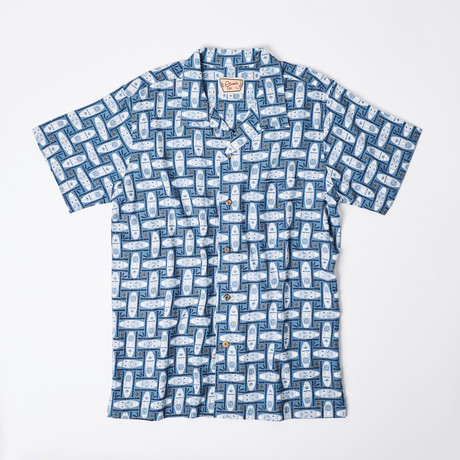 Kayyl Retro Hawaiian Shirt // Blue (XL)