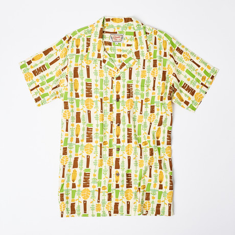 Moani Retro Hawaiian Shirt // Tiki Chimes (L)