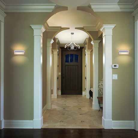 "ATLAS Series // Integrated LED Wall Sconce // 10"" (Top Bar)"