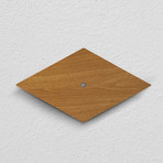 SILVA Series // Motion-Sensing LED Wall Sconce (Dark Wood)