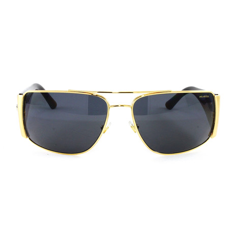 VE2163 Polarized Sunglasses // Gold