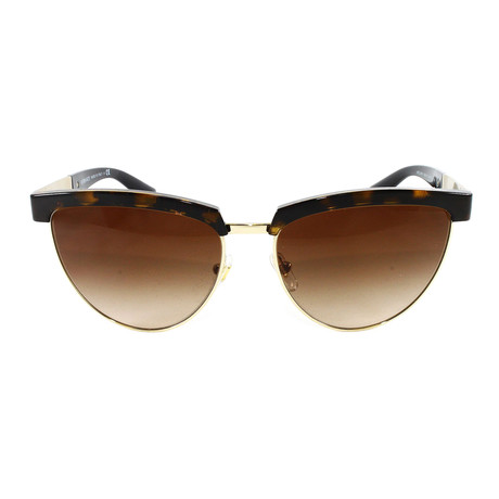 VE2169 Sunglasses // Havana Pale Gold