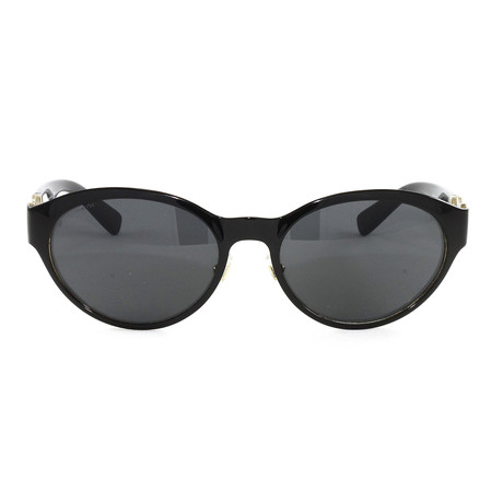 VE2179 Sunglasses // Black + Pale Gold