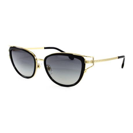 Women's VE2203 Sunglasses // Black + Gold