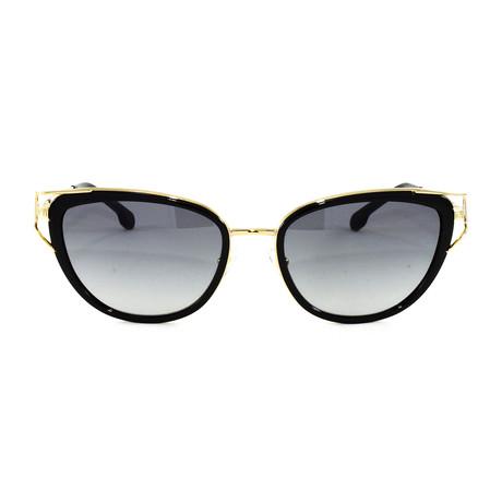 VE2203 Sunglasses // Black + Gold