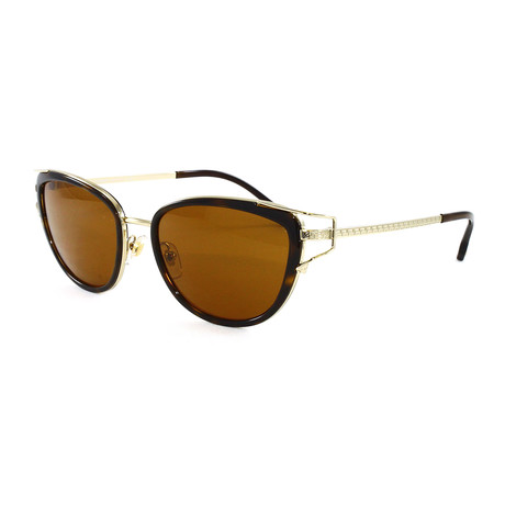 Women's VE2203 Sunglasses // Havana + Pale Gold