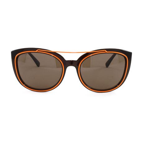 VE4336 Sunglasses // Transparent Brown + Orange