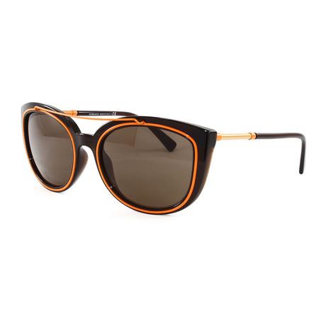 Women's VE4336 Sunglasses // Transparent Brown + Orange