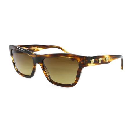 Women's VE4344 Sunglasses // Striped Havana