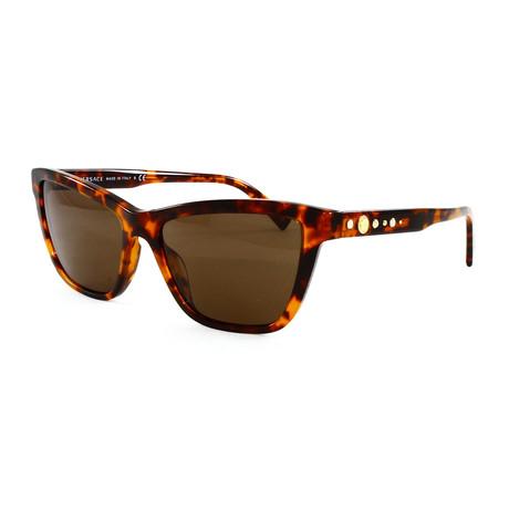 Versace // Women's VE4354B Sunglasses // Havana