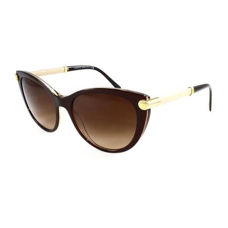 Women's VE4364Q Sunglasses // Brown + Transparent
