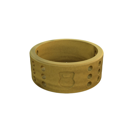 Athletics Perforated Silicone Ring // Gold (Size 9)