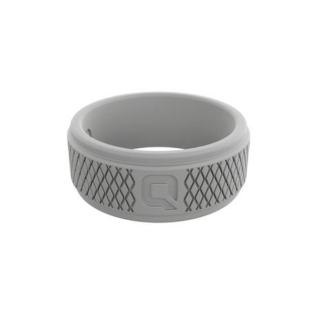 Crosshatch Q2X Ring // Light Grey (Size 8)