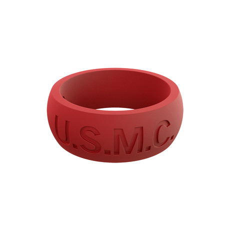 USMC Classic Q2X Ring // Red (Size 8)