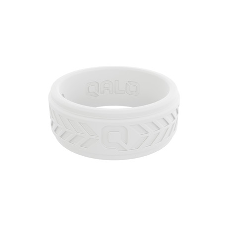 Chevron Q2X Ring // White (Size 8)