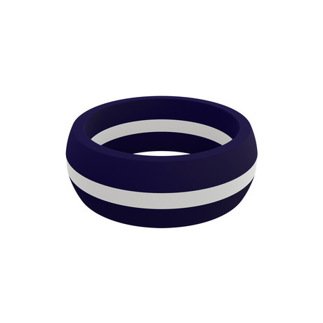 Stripe Silicone Ring // White (Size 8)