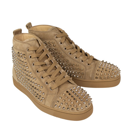 Suede Spikes Hi-Top Sneakers // Tan (Euro: 36)