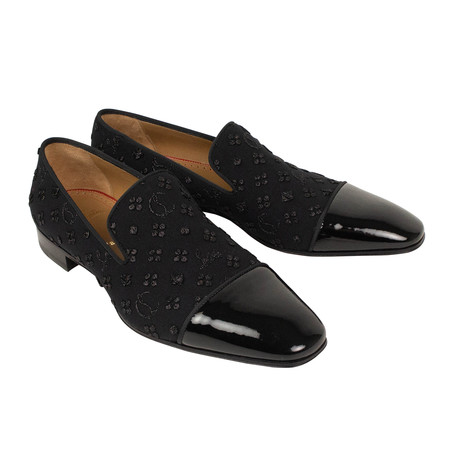 Jacquard + Patent Dandelion Loafers // Black (Euro: 36)