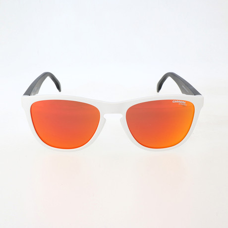 Unisex 5042S Sunglasses // White Crystal + Gray Rainbow