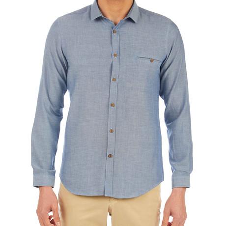 James Patterned Shirt // Blue (S)