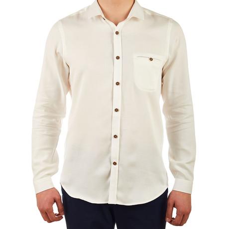 Mark Striped Dress Shirt // Cream (S)