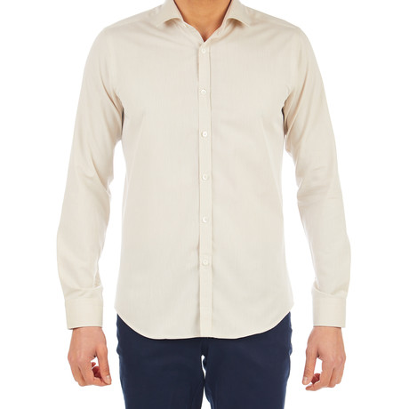 Jacob Dress Shirt // Beige (S)