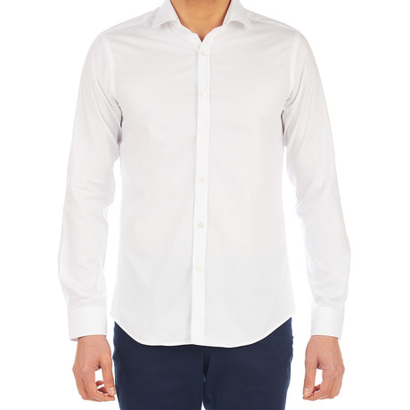 Paul Patterned Dress Shirt // White (S)